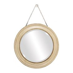 Find it at bombaycompany.com  - Round Cream Mirror on Chain