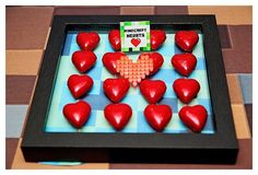 Hearts from a Minecraft Birthday Party via Kara's Party Ideas |