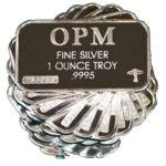 OPM 1 Oz Silver Bars 20pcs  $468.40