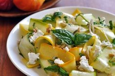 Squash Ribbon Salad With Pine Nuts and Goat Cheese | 23 Incredible Salads You'll Actually Want To Eat