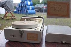 1959 Philips portable record player working rare by wwwFlipClocKnl