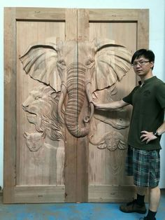 Wooden Front Door Design, Main Entrance Door Design, Double Door Design, Wooden Doors, Wood Design, Pooja Room Door Design, Door Design Interior, Door Design Images, Carved Wood Wall Art