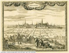 De stad Groningen gezien vanuit het zuiden 1600-1700