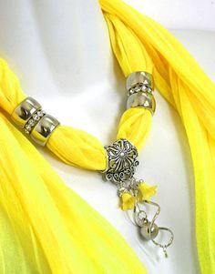 Encanto de bufanda collar bufanda amarillo bufandas bufandas brillante
