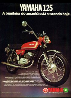 Anúncio moto Yamaha 125 - 1977