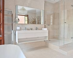 How to renovate a bathroom can be done in many ways. Here are 5 useful renovations you can do for your own bathroom at home. Wood Floor Bathroom, Modern Bathroom, Small Bathroom, Master Bathroom, Bathroom Ideas, Bathroom Storage, Bathroom Sinks, Bathroom Colors, Bathroom Cabinets