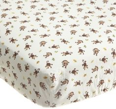 Kids Line Jungle 123 Fitted Sheet, Brown:Amazon:Baby