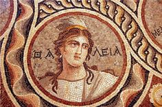 """Mosaic from the """"House of the Muses"""", Zeugma"""