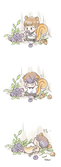 is no one going to talk about the number of berries tho Kim Minseok Exo, Exo Xiumin, Exo Fan Art, Xiuchen, Bts And Exo, Cute Chibi, K Idol, Kpop Fanart, Character Design