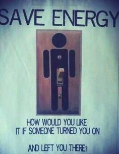 Funny Save Energy Switch Picture No Sex