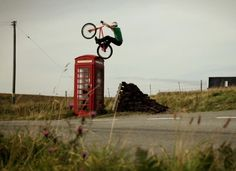 Danny Macaskill, but I call him Make-a-skill because he can find some trick to do on pretty much anything he sees. Over half of the stuff he does, you could never imagine the could've been done before