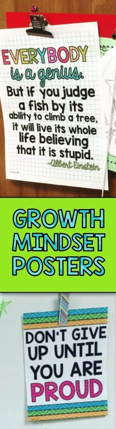 Growth mindset posters for the classroom classroom schule, motivation, posi Classroom Quotes, Classroom Posters, Classroom Ideas, Classroom Design, Teaching Quotes, Teaching Tools, Education Quotes, Teaching Reading, Teaching Ideas