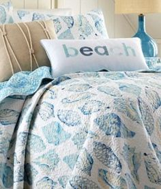 Blue seashell bedding from Bealls: http://www.completely-coastal.com/2010/07/coastal-and-nautical-bedding.html