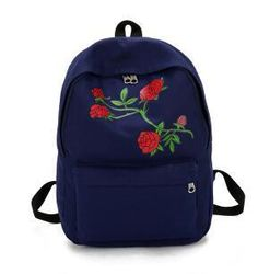 Backpack Women Canvas Printing Rose Flowers Bag 5 Colors New Female Bag  HighQuality School Bags For 1a4dda3895420