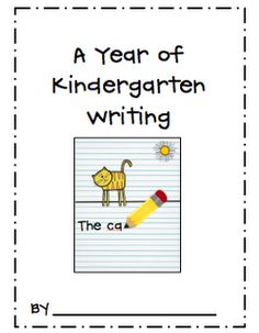 Monthly Kindergarten Writing Templates