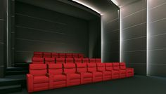 view of cinema room from the opposite side.