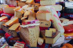Tons of Dutch cheese in Rotterdam Market Hall