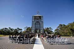 Saturday July 2011 – Beautiful winter weather today for a lovely outdoor civil wedding at The Treillage Tower, Bicentennial … Bicentennial Park, Civil Wedding, Wedding Places, Civilization, Getting Married, Olympics, Wedding Ceremony, Tower, Sydney