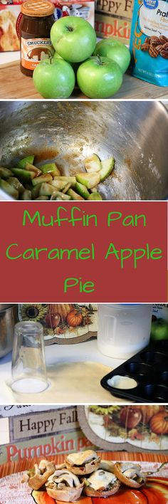 Muffin pan caramel apple pies