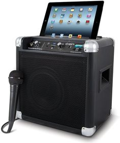 ION Tailgater Bluetooth Portable Speaker System - Portable loudspeaker system with integrated rechargeable battery and wired/wireless connectivity. You can stream your music wirelessly from any Bluetooth-enabled devices like iPad, iPhone, iPod Touch, and Android devices. To get more updates, follow Best Buy Portable Speakers.