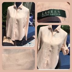 Gorgeous Linen Ralph Lauren blouse Very beautiful Ralph Lauren linen blouse!! I love this blouse but grew out of everything !!😢 Ralph Lauren Tops Blouses