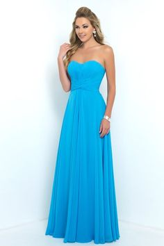 Alexia - Style 180L Long version of 4180. Chiffon bridesmaid gown with pleated bodice, ruched waistline & sweetheart neckline.