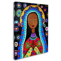 Trademark Global Prisarts 'Our Lady Of Guadalupe II' Canvas Art - 47 Mexican Home Decor, Mexican Art, Mexican Paintings, Our Lady, Artist Canvas, Painting Techniques, Wall Art Decor, Wrapped Canvas, Canvas Wall Art
