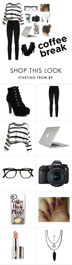 """""""Coffee ☕"""" by pandinhagordo654 ❤ liked on Polyvore featuring Paige Denim, Speck, Eos, Casetify, Avon and Hot Topic"""