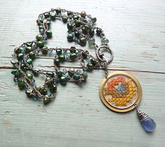 embroidered imagination necklace by ninabagley on Etsy