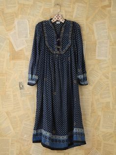 Free People Vintage Floral Printed Boho Dress