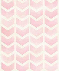 Pink Watercolor Chevron Original