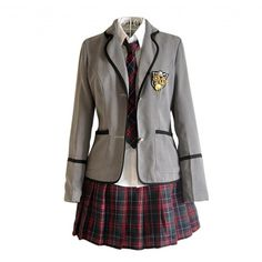 Lemail Wig New Autumn and Winter British School Uniforms Suit and... (92 MXN) ❤ liked on Polyvore featuring dresses and outfits