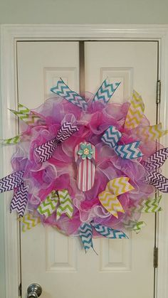 Spring wreath summer wreath flip flop wreath by DecoCrazed on Etsy