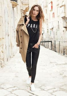 Wander Trench Madewell Spring 2014, Erin Wasson on location in Malta #denimmadewell
