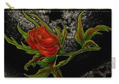 Rose Carry-all Pouch featuring the painting Wild Rose by Faye Anastasopoulou