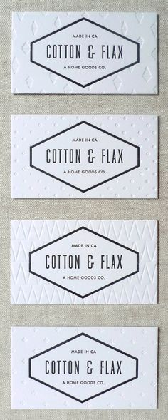 letterpress business cards for Cotton & Flax designed by Laura Carignan of Lulu Dee. via Cotton & Flax Logo Design, Graphic Design Branding, Identity Design, Typography Design, Print Design, Design Cars, Visual Identity, Vector Design, Brand Identity