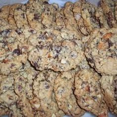 Nutty and super chocolaty cookies that use three kinds of chocolate chips. If you love chocolate as much as I do you will love these cookies. Hope they last more than a day! Best Chocolate Chip Cookies Recipe, Chip Cookie Recipe, Oatmeal Chocolate Chip Cookies, White Chocolate Chips, Cookie Brownie Bars, Vegetarian Chocolate, Brownie Recipes, Food, Sugar Eggs