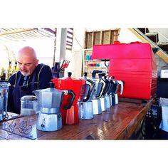 coffee + conversation with felipe at la escuelita // #valledeguadalupe #coffee #cafe #espresso