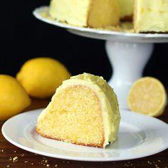 From scratch - amazing lemon pudding bundt cake with my Lemon Buttercream Icing. Some serious lemon nirvana.