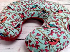 Birds on Branches Minky Boppy Cover