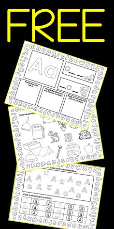 7 FREE pages to help your students practice skills with the letter A. Your students will love these sheets as they practice what they know about the letter A. Your students will: identify short and long vowels practice writing capital and lower case letters use a sheet at home use a sheet during independent time