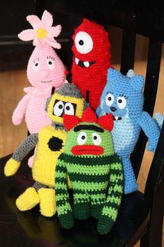 My yo gabba gabba crochet dolls.