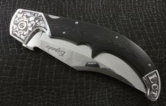Cold Steel Espada couteau pliant gravé à la main