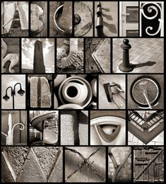 """Found"" alphabet photos b&w"
