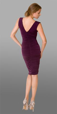 Shalini ruched jersey reversible dress - mine is brown and black! Reversible Dress, Yes To The Dress, V Neck Dress, Beautiful People, Bodycon Dress, Formal Dresses, Brown, Skirts, Beauty