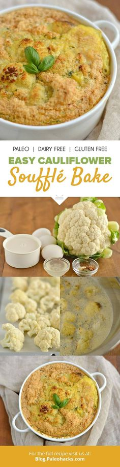For an elegantly easy dish filled with protein and veggies, whip up this savory Cauliflower Soufflé! Get the recipe here: http://paleo.co/caulisouffle