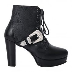 Chaussures Bottines Gothique Victorien Steampunk Amice
