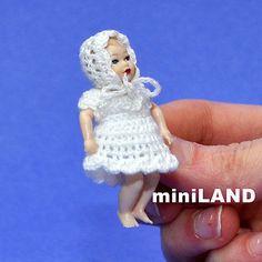 "XB004 Heidi Ott Baby Doll 1¾"" 1/12 scale DollHouse girl Outfit soft  miniature"