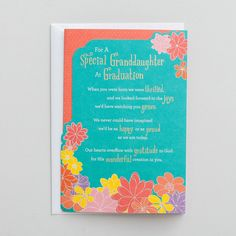 Graduation - Granddaughter - 1 Premium Card