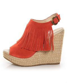 I've recently found out how much i love wedges and the fringe on this shoe is super fun!